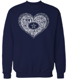 Lace Heart With Team Verbiage - Dallas Cowboys