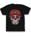 Sugar Skull w. Baseball Hat - Georgia Bulldogs
