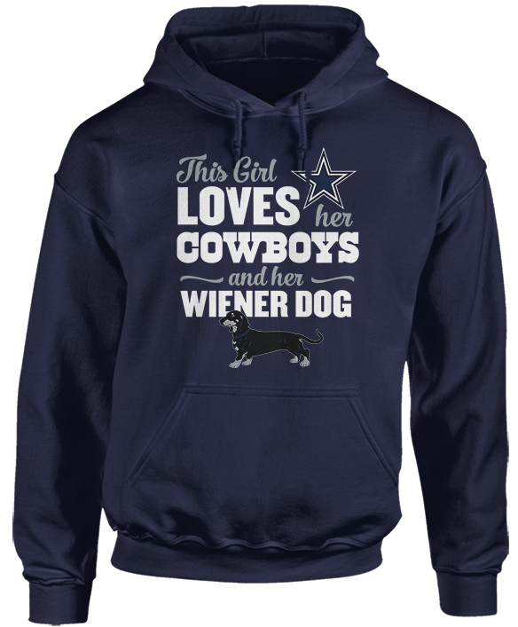 This Girl Loves Her Dog (Wiener Dog) - Dallas Cowboys