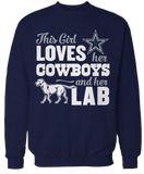 This Girl Loves Her Dog (Lab) - Dallas Cowboys