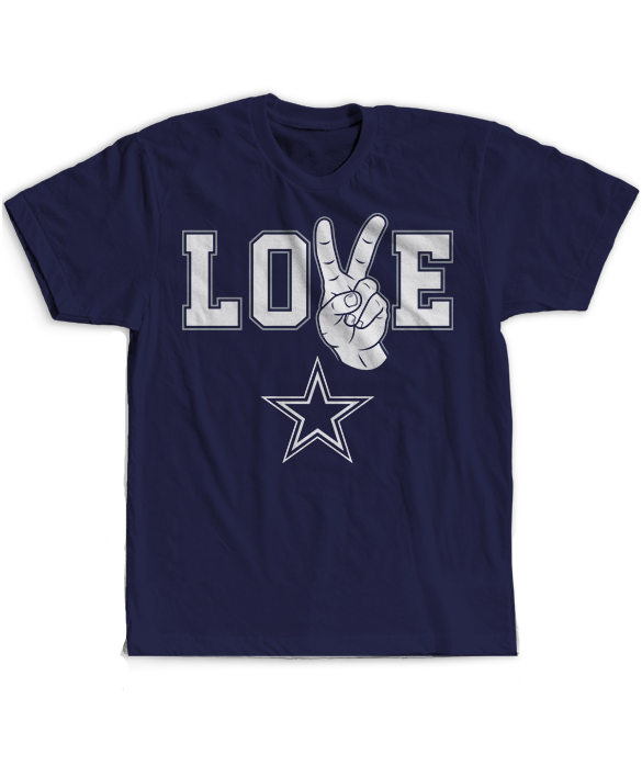 Peace Love Hand Sign - Dallas Cowboys