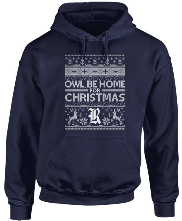 Owl Be Home For Christmas (Ugly Christmas Sweater)  - Rice Owls