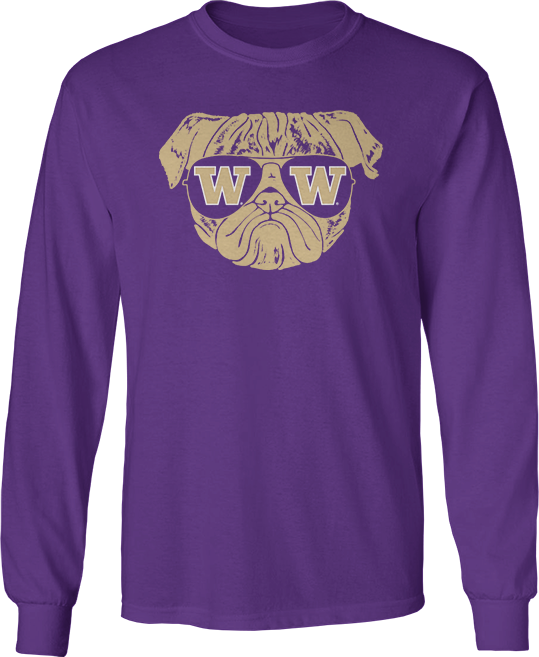 Pug Life (Pug W. Logo Sunglasses) - Washington Huskies