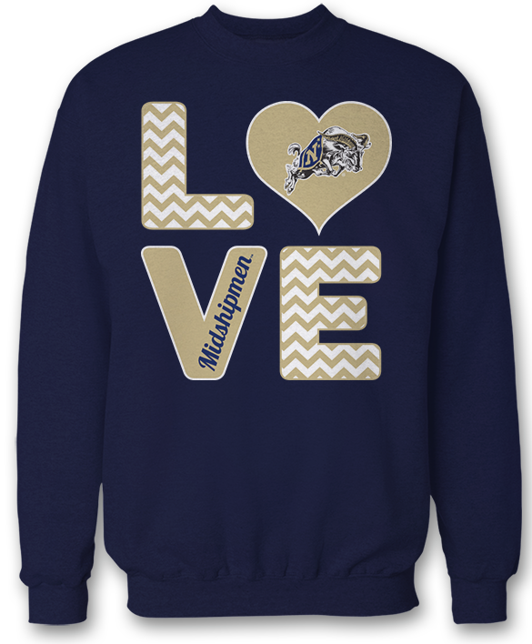 Stacked Love - Navy Midshipmen