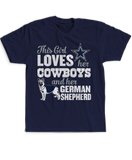 This Girl Loves Her Dog (German Shepherd) - Dallas Cowboys