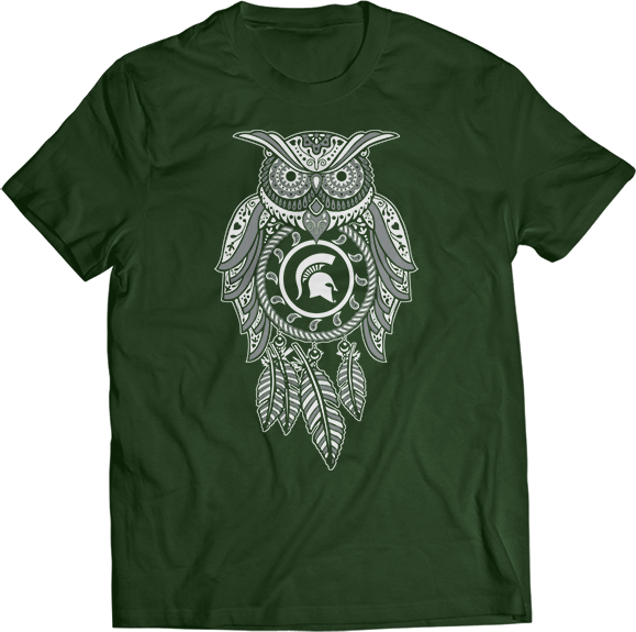 Sugar Skull Owl - Michigan State Spartans