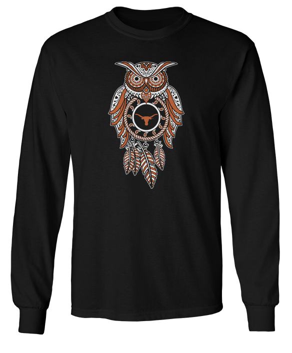 Sugar Skull Owl - Texas Longhorns
