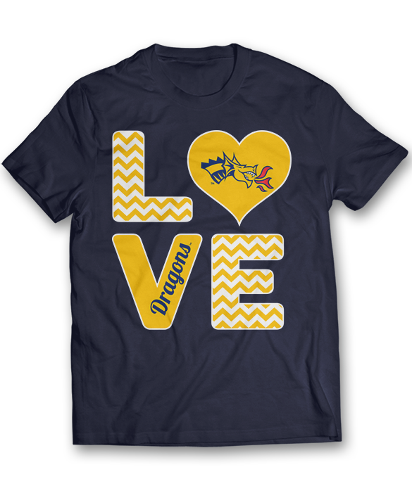 Stacked Love - Drexel Dragons