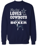 This Girl Loves Her Dog (Boxer) - Dallas Cowboys