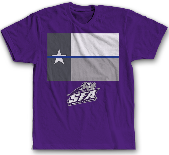 Texas Thin Blue Line - Stephen F. Austin Lumberjacks