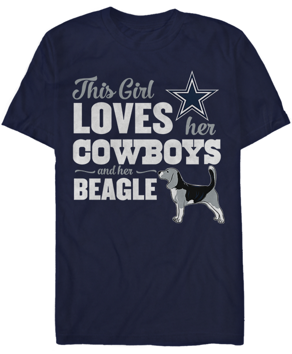This Girl Loves Her Dog (Beagle) - Dallas Cowboys