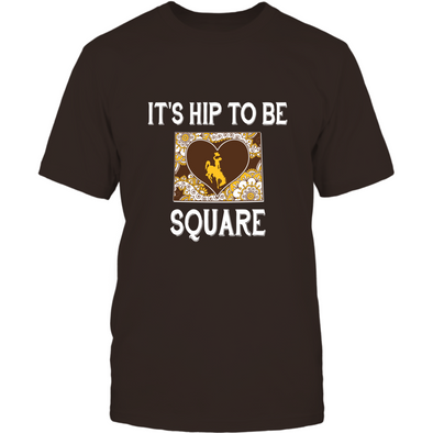 Wyoming Cowboys - It's Hip To Be Square - T-Shirt - Officially Licensed Apparel