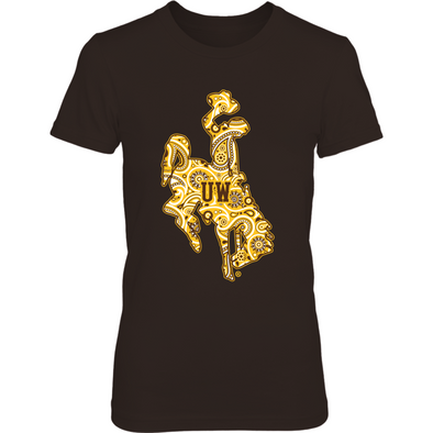 Wyoming Cowboys - Paisley logo - T-Shirt - Officially Licensed Sports Apparel