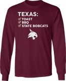 Texas: Toast, BBQ - Texas State Bobcats
