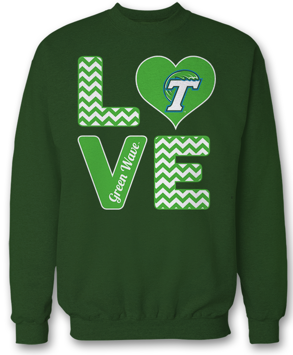 Stacked Love -  Tulane Green Wave