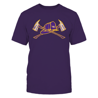 LSU Tigers - Firefighter Axe Flag - T-Shirt - Officially Licensed Sports Apparel