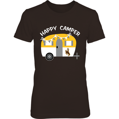 Wyoming Cowboys - Camping - Vintage Camping Car - T-Shirt - Officially Licensed