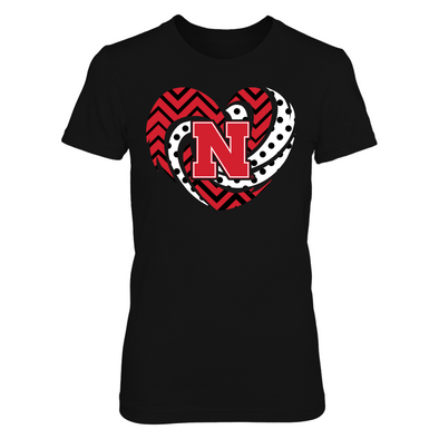 Nebraska Cornhuskers - Hurricane Heart - Cu... - Next Level Women's Junior Fit Premium T-Shirt - Official