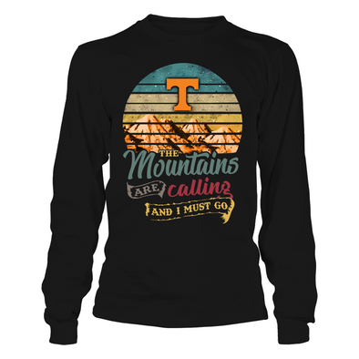 Tennessee Volunteers - Mountains Are Calling - Retro Style - T-Shirt - Official