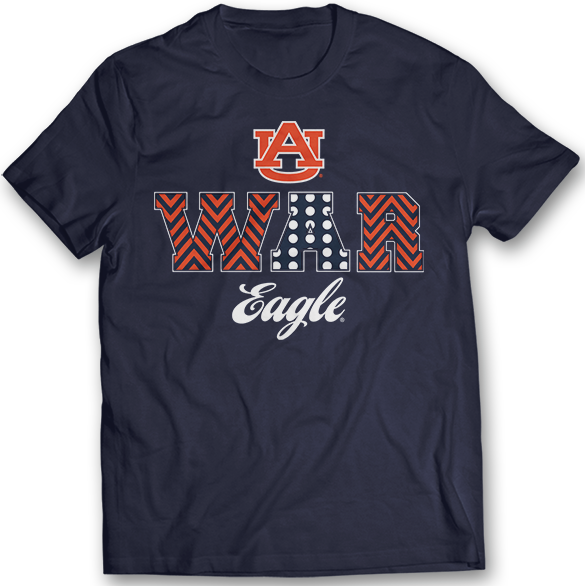 Patterned Letters (War Eagle) - Auburn Tigers
