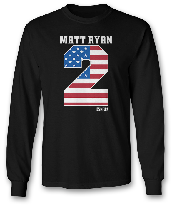 Flag Pride Jersey Number - Matt Ryan