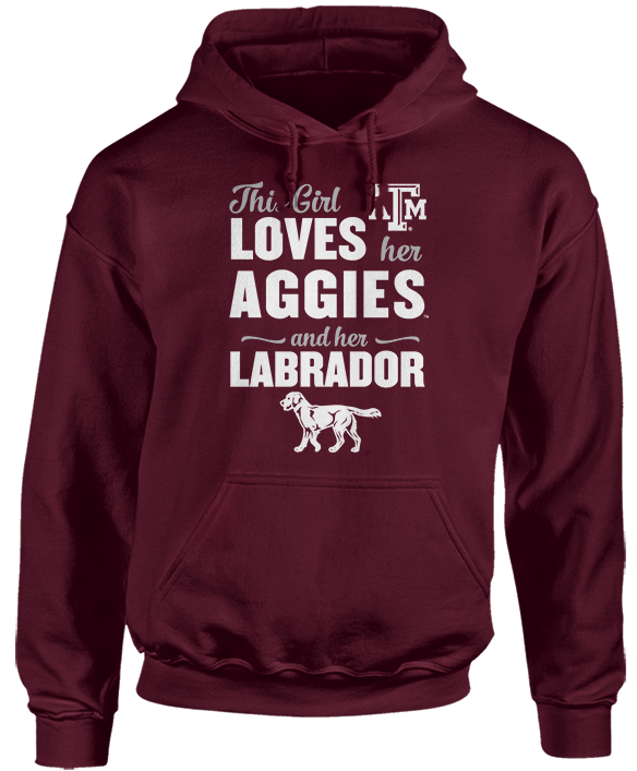 This Girl Loves Her Dog (Labrador) - Texas A&M Aggies