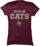 Patterned Letters (Eat 'Em Up CATS) - Texas State Bobcats