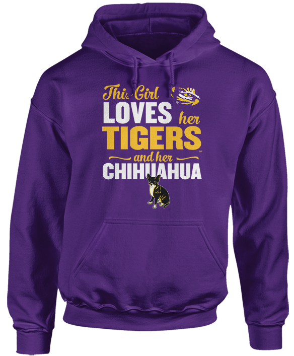 This Girl Loves Her Dog (Chihuahua) - LSU Tigers