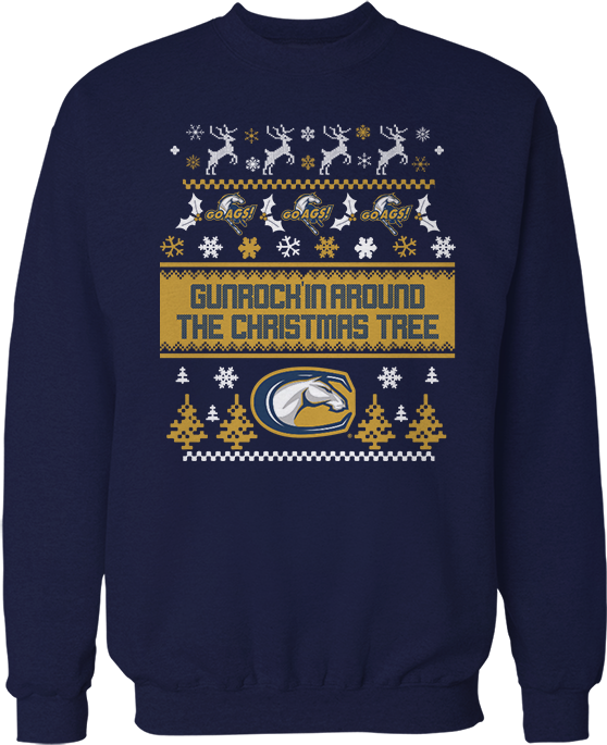 Gunrockin' Round The Xmas Tree - Ugly Christmas Sweater - UC Davis Aggies
