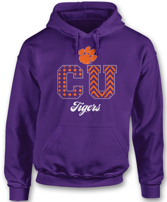 Patterned Letters - Clemson Tigers