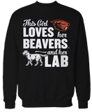 This Girl Loves Her Dog (Lab) - Oregon State Beavers
