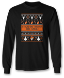 Stache-ing Through The Snow (Ugly Christmas Sweater) - Oklahoma State Cowboys