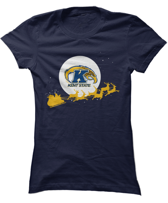 Santa Sleigh - Kent State Golden Flashes