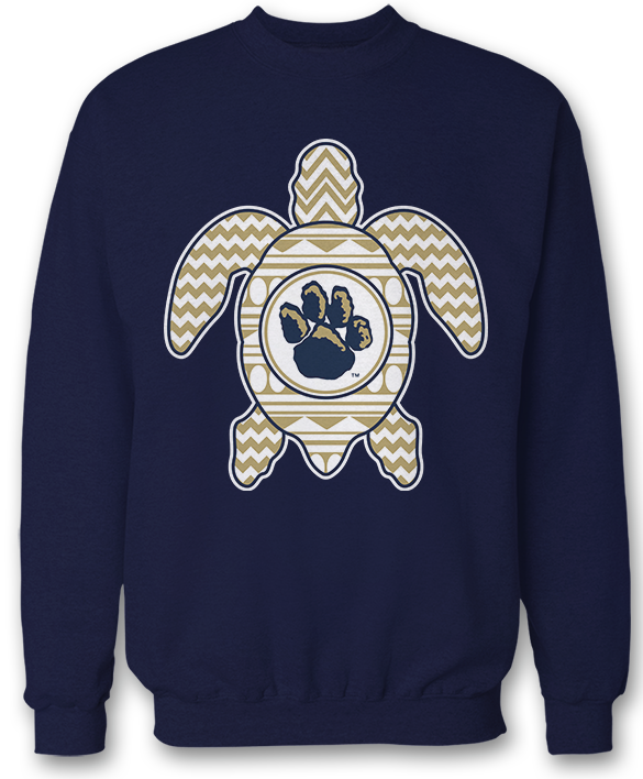 Patterned Turtle - Pitt Panthers