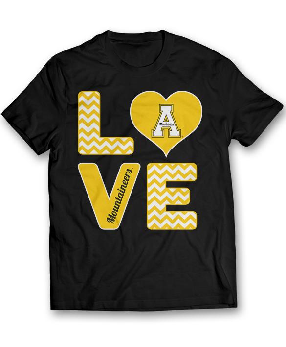 Stacked Love - Appalachian State Mountaineers