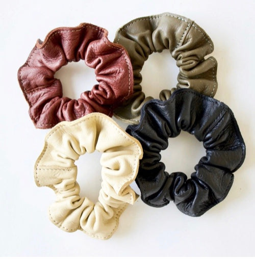 Neva Opet Leather Hair Scrunchies