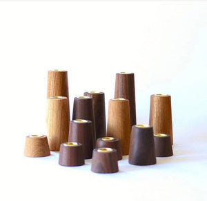 Tapered Wood Candle Holders