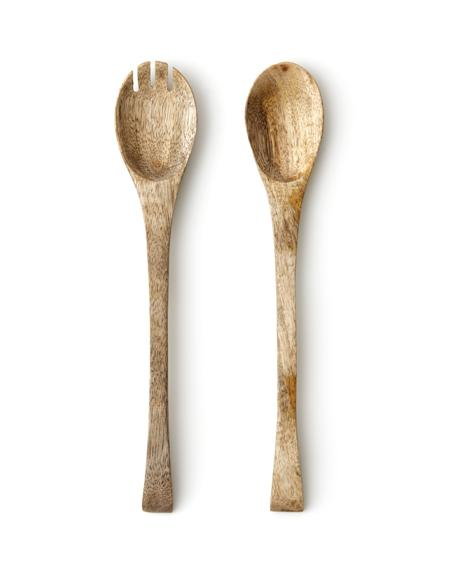 Mango Wood Salad Server Set