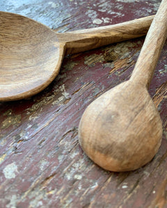 Mango Wood Round Spoon - Small