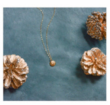 Load image into Gallery viewer, Porcelain and Stone Gold Shell Charm Necklace