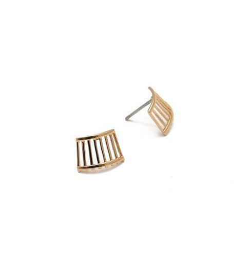 Rahya Jewelry Design - Ellie Woven Studs/Gold