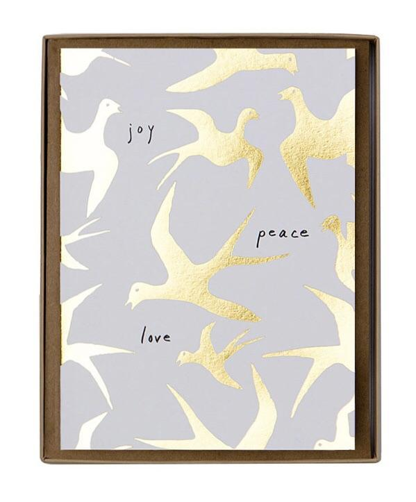 Sage et Cie Joy Peace Love Card