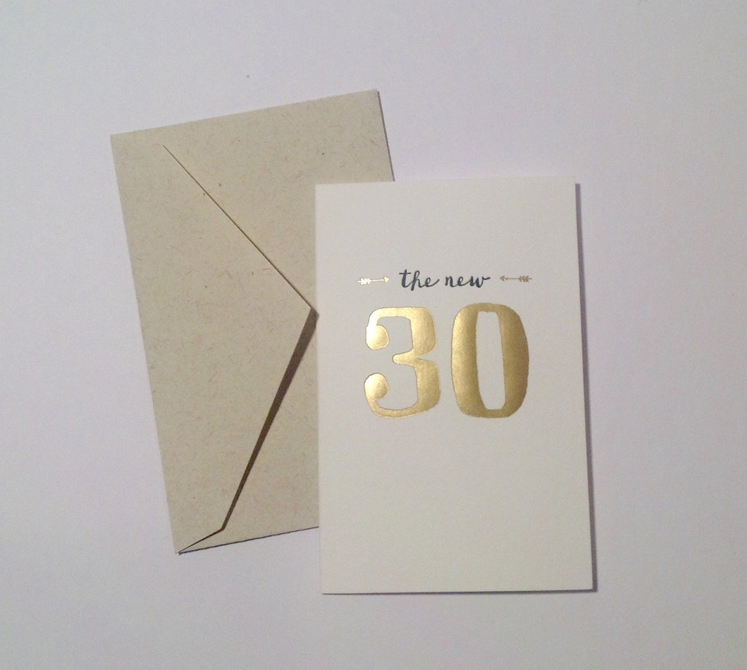 Smock The New 30 - Birthday card