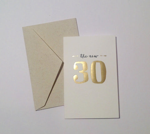 The New 30 - Birthday card