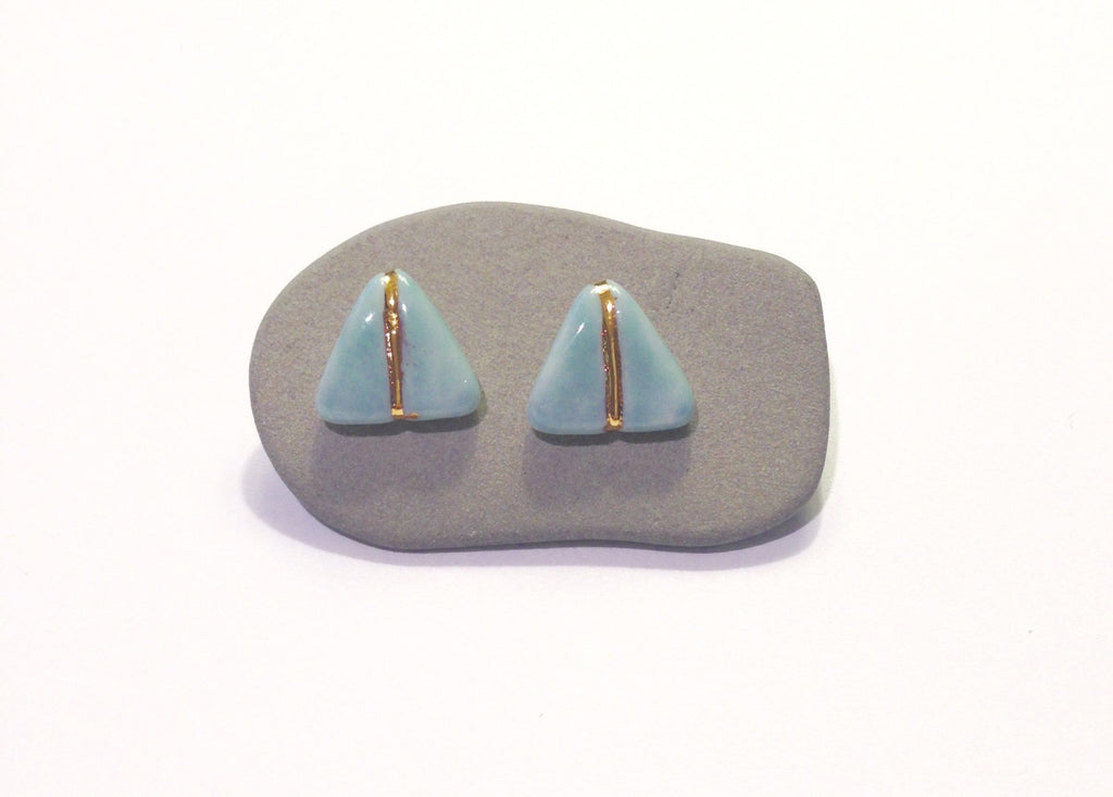 Porcelain Glider Earrings Soft Blue