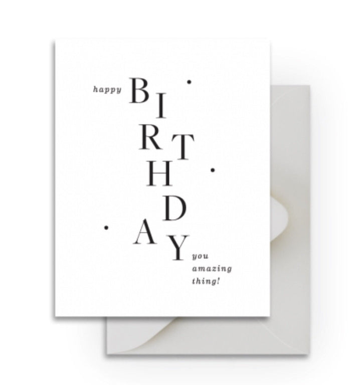 Smitten on Paper - Amazing Thing Birthday Card