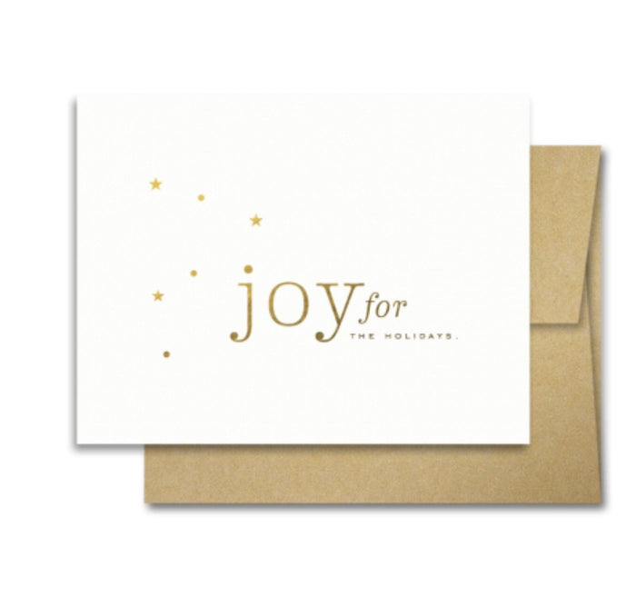 Smitten on Paper - Joy Stars Holiday Card