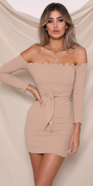 TAMMY RIBBED DRESS - HotPinkAvenue, dress, bandage dress, bodycon, new arrival, young fashion, trendy fashion, womens fashion, nightclub, evening, races, sexy, two piece set