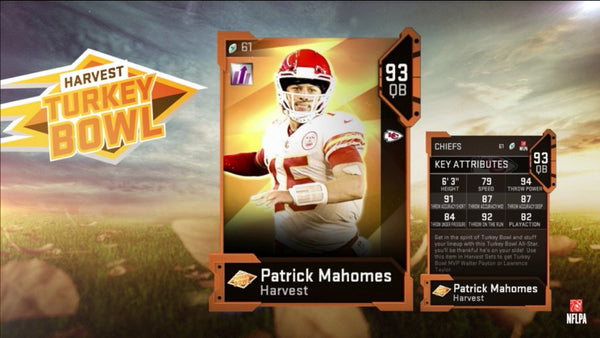 harvey turkey bowl madden mut
