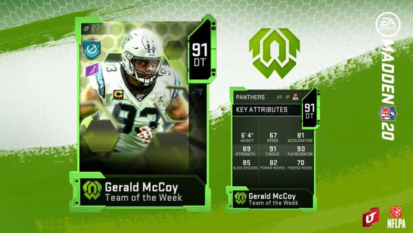 team of the week madden
